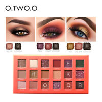 18 Colors Eye Shadow Matte Shimmer Pigment Makeup Brown Purple Eyeshadow Palette