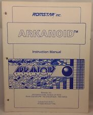 ROMSTAR ARKANOID arcade gAME MANUAL rare COMPLETE