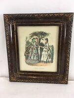 Vtg La Mode Anais Toudouze Illustree Victorian Paris France Framed Plate Print