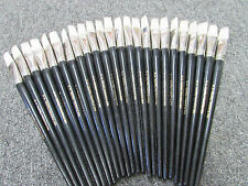 24-ARTIST QUALITY WHITE BRISTLE OIL/ACRYLIC Brushes #22  FREE SHIPPING