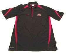 OHIO STATE BUCKEYES Polo Shirt by NIKE DRI-FIT Men's Small 100% Polyester
