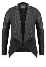 New Look Women's Jacket -  Black WITH PU DETAIL SLEEVES - Size SMALL BNWT