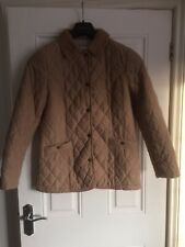 M&S Classic Camel Quilted Jacket, Size 10, Exc Cond