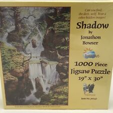 Hidden Pictures Jigsaw Puzzle 1000 Pc Shadow Wildlife Deer Wolf Bear Sealed