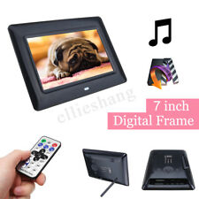7'' TFT LCD HD Digital Photo Audio Video Music Clock Frame Auto Player W/