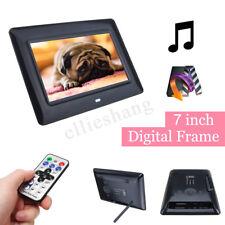 7'' TFT LCD HD Digital Photo Audio Video Music Clock Frame Auto Player W/ Remote