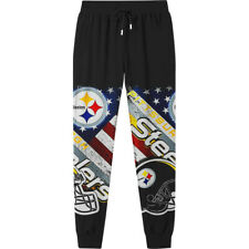 Pittsburgh Steelers Casual Joggers Pants Sweatpants Loose Active Sports Trousers