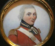 FINE GEORGIAN PORTRAIT MINIATURE HANDSOME YOUNG OFFICER by FREDERICK BUCK