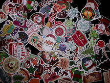 For Kids 100 Christmas Skateboard Stickers XMas Vinyl Laptop Santa Sticker Lot