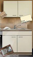 Spülenunterschrank + Hängeschrank MANKASIGMA Vanille Arbeitsplatte+Spüle+Armatur