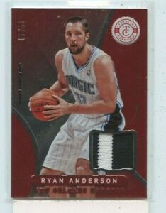 RYAN ANDERSON 2012-13 PANINI CERTIFIED RED JERSEY PATCH RELIC #D /49