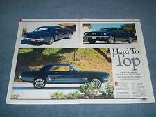 """1964 1/2 Mustang Coupe Article """"Hard to Top"""" First Production Hardtop"""