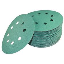 "50 5"" 8-Hole 80-Grit Dustless Hook & Loop Sanding Discs for Dewalt D26450 DW421"