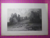 Antique engraving VIEW of KENILWORTH CASTLE Warwickshire Veduta etching/print