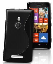 pour votre Nokia Lumia 925, ce bel étui&coque souple de qualité silicone, Noir