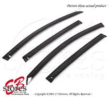 Chevrolet Sonic Hatchback 12-16 Outside-Mounted Dark Smoke JDM Window Visors 4pc