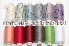 1 Rolle mit 500m Nähgarn - TEX 14,8x2 - Garn - Faden - Polyester - viele Farben