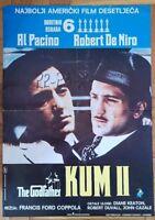 The Godfather: Part II (1974)  Original Movie Poster Yugoslavia Edition