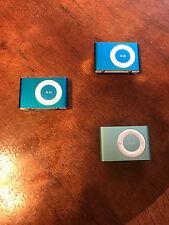 Retro 3 Bundle set of iPod Shuffle 2nd Gen 1GB Models 240 Songs 12hr Battery