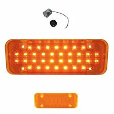 2 LED Parking Lights w// Flasher for 60-66  Chevrolet Pickup Truck Amber Pair