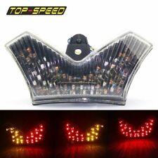 Motorbike LED Chrome Taillight Turn Signal For Kawasaki Ninja ZX-14 ZX1400 06-11