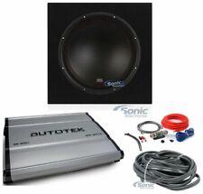 "MTX 3512-04 12"" 500W Car Subwoofers+Sealed Sub Box Enclosure+Amplifier+Amp Kits"