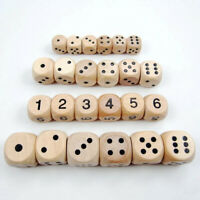 10pcs Dice Lightweight 16mm Durable Sieve Wooden Dice Toy for Playing