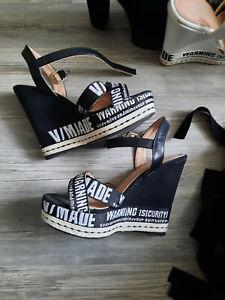High heels Wedges Schwarz , gebraucht, Gr. 38