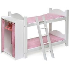 Bunk Bed For 18 Inch Dolls Badger American Girl Furniture Mattress Bedding White