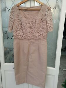 Hobbs Livia Dress, Sable Pink size 10, Special Occasion, Silk/ Wool NEW NO TAGS