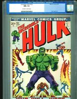 Incredible Hulk 152 CGC 9.6 OW/W pages OLD SLAB Classic Cover Marvel 1972