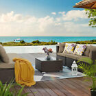 Yitahome Patio Wicker Furniture Outdoor 7pcs Rattan Sofa Garden Conversation Set