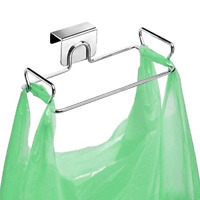 Stainless Steel Trash Bag Holder for Kitchen Cabinets Doors and Cupboards New