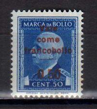 """RSI 1944 Marca timbres fiscales 50c postal con """"Vale como Sello"""" MNH"""