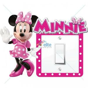 MINNIE MOUSE LIGHT SWITCH SURROUND STICKER DECAL KIDS BOYS GIRLS BEDROOM
