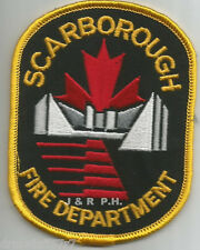 """Defunct - Scarborough-gold, Ontario, Canada  (3"""" x 4"""" size)  fire patch"""