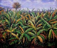 Hand Painted Oil Painting Repro Renoir Pierre-Auguste Banana Trees 20x24in