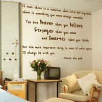 Winnie the Pooh Wall Art Quotes Words Phrases Kids Nursery Wall Stickers Decals