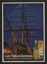 1972 CUTTY SARK Scots Whisky - Sailing Ship - Christmas Lights - VINTAGE AD