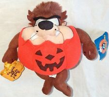 "1997 NEW LOONEY TUNES 8"" TASMANIAN DEVIL HALLOWEEN PUMPKIN STUFFED ANIMAL TOY"
