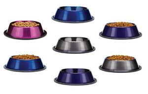 Dura Gloss Metallic Stainless Steel Dog Bowls - Metallic Anti Skid Bowl for Dogs