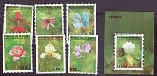 Guinea # 1312-18 MNH Complete W/SS Orchids Flowers Flora
