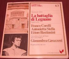 """I Gioielli Della Lirica Lp """" LA BATTAGLIA DI LEGNANO """" Longanesi Periodici n° 63"""