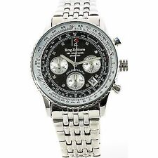 Pilot/Aviator 30 m (3 ATM) Water Resistance Wristwatches with Chronograph