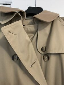VTG Evan-Picone Trench Coat Belted Belted Wool Lined Women's L/XL