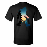 BELIEVE Bigfoot Sasquatch Forest Silhouette Adult Unisex T-Shirt