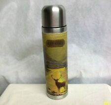 #CS-TB ENGLAND WILD & WOLF TED BAKER NEW STAG DEER VACUUM SS 17 oz THERMOS FLASK