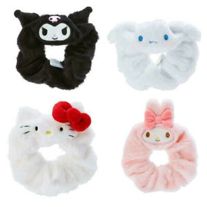 Japan Hello Kitty My Melody Kuromi Cinnamoroll Plush Scrunchies Ponytail Holder