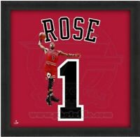 "Derrick Rose Chicago Bulls NBA Uniframe Photo (Size: 20"" x 20"") Framed"