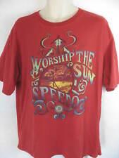 Speedo XL Red Graphic T Shirt Worship The Sun 100% Cotton